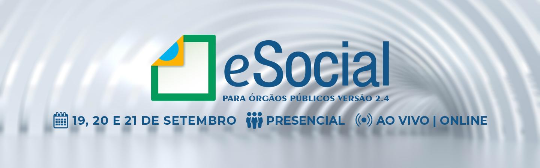 Banner eSocial para Órgãos Públicos Versão 2.4