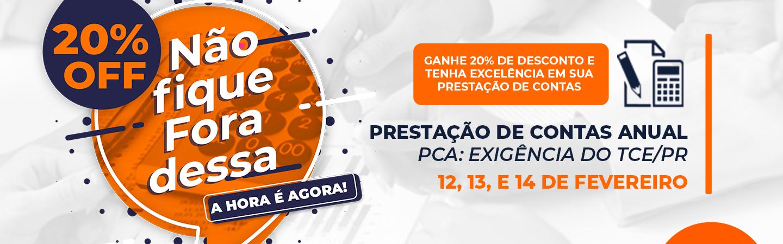 Banner Prestação de Contas Anual  PCA: Exigências do TCE/PR